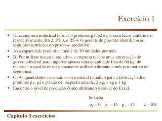 Exerc�cio 1