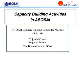 Capacity Building Activities  in ASOSAI