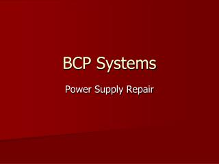 BCP Systems