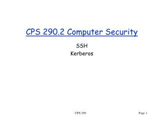 CPS 290.2 Computer Security