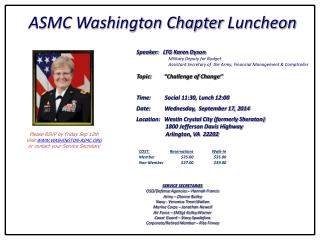 ASMC Washington Chapter  Luncheon