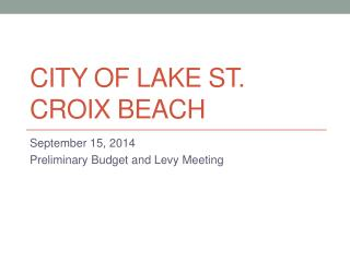 City of Lake St. Croix Beach