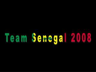 Team Senegal 2008