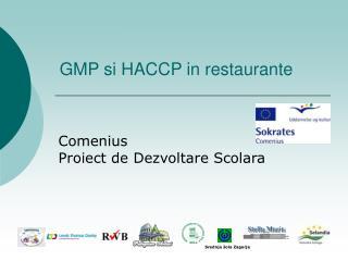 GMP si HACCP in restaurante