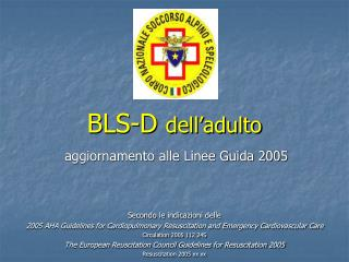 BLS-D  dell'adulto