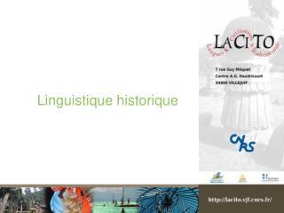 Linguistique historique