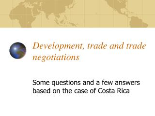 Development, trade and trade negotiations