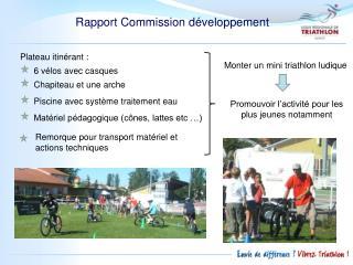 Rapport Commission développement