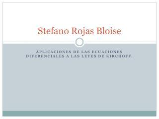 Stefano Rojas Bloise