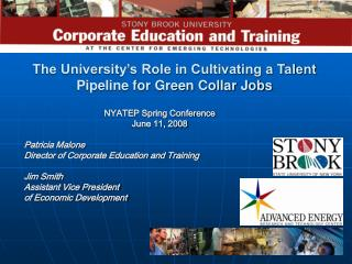 The University's Role in Cultivating a Talent Pipeline for Green Collar Jobs