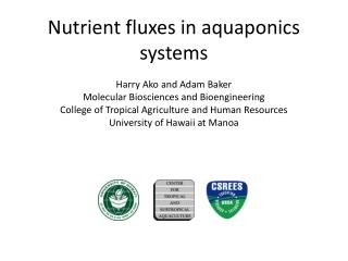 Nutrient fluxes in aquaponics systems
