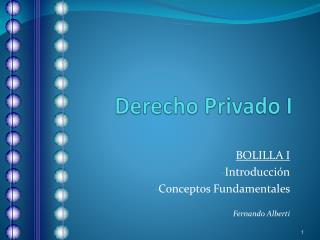 Derecho Privado I