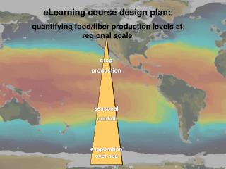 eLearning course design plan: quantifying food/fiber production levels at regional scale