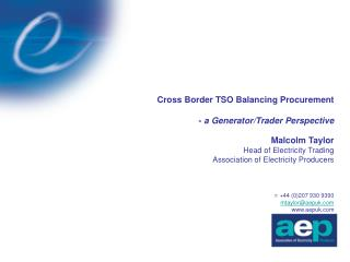 Background & Aims Developing Regional Markets Efficiencies of cross-border trading