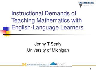 Instructional Demands of Teaching Mathematics with English-Language Learners