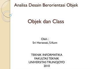 Objek dan Class