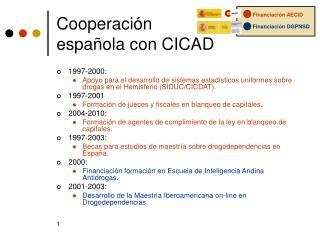 Cooperación española con CICAD