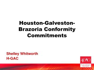 Houston-Galveston-Brazoria Conformity Commitments