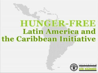 TO ERADICATE HUNGER IN ONE GENERATION Proposed by Brazil and Guatemala  in 2005