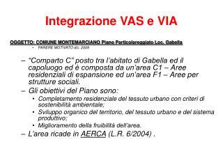 Integrazione VAS e VIA