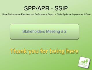 SPP/APR - SSIP