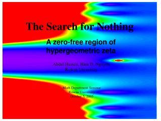 A zero-free region of hypergeometric zeta