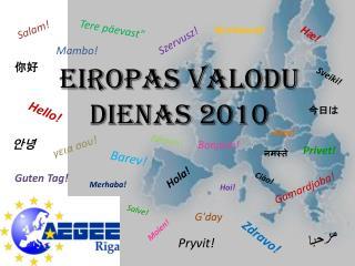 EIROPAS VALODU DIENAS 2010