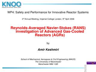 WP4: Safety and Performance for Innovative Reactor Systems