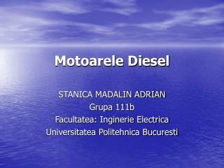 Motoarele Diesel