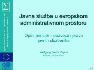 Javna slu žba u evropskom administrativnom prostoru