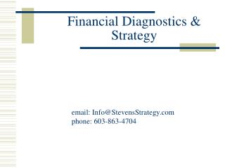 Financial Diagnostics & Strategy
