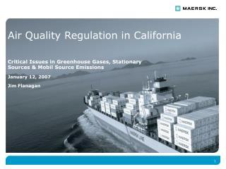 Air Quality Regulation in California