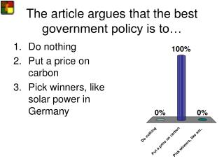The article argues that the best government policy is to…