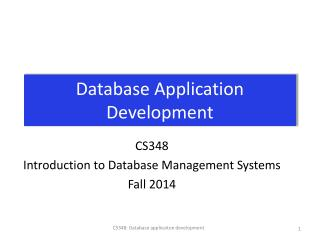 Database Application Development