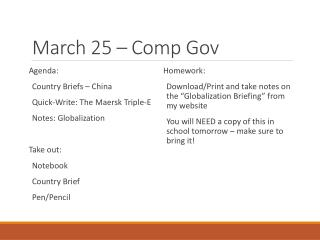 March 25 � Comp  Gov