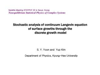 Stochastic analysis of continuum Langevin equation  of surface growths through the