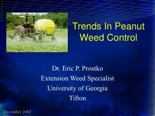 Trends In Peanut  Weed Control