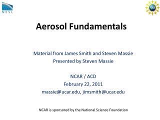 Aerosol Fundamentals
