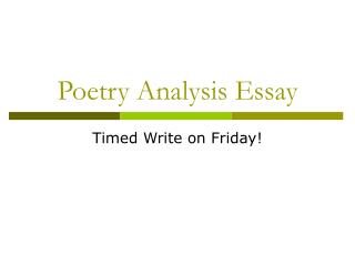 poetry theme analysis essay