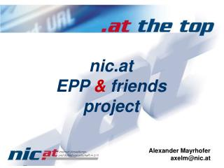 nic.at  EPP  &  friends project