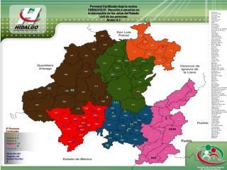 Región 1:  1 Región 2:  3 Región 3:  5 Región 4:  15 Región 5:  8 Región 6:  11