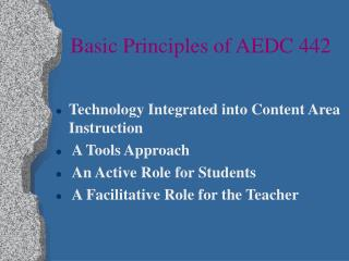 Basic Principles of AEDC 442