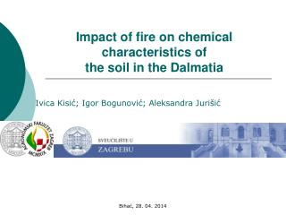 Impact of fire on chemical characteristics of  the soil in the Dalmatia