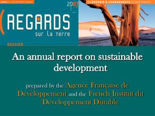 An annual report on sustainable development