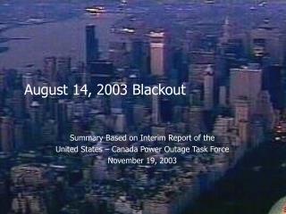 August 14, 2003 Blackout