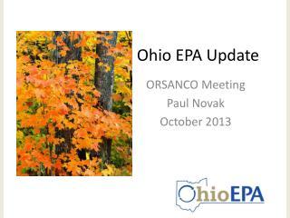 Ohio EPA Update
