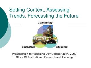 Setting Context, Assessing Trends, Forecasting the Future