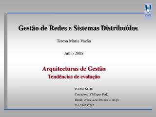 Gest�o de Redes e Sistemas Distribu�dos