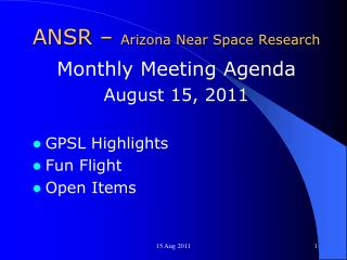 ANSR –  Arizona Near Space Research