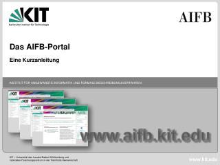 Das AIFB-Portal